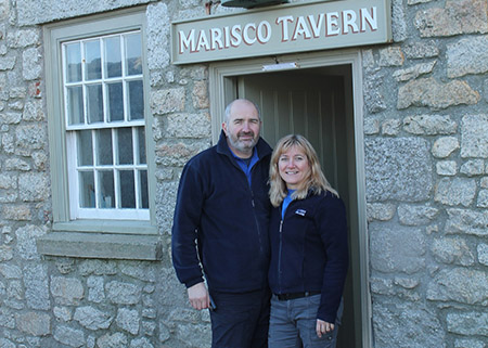 Ron and Sue Waterfield, Island Manager and Stores Manager on Lundy